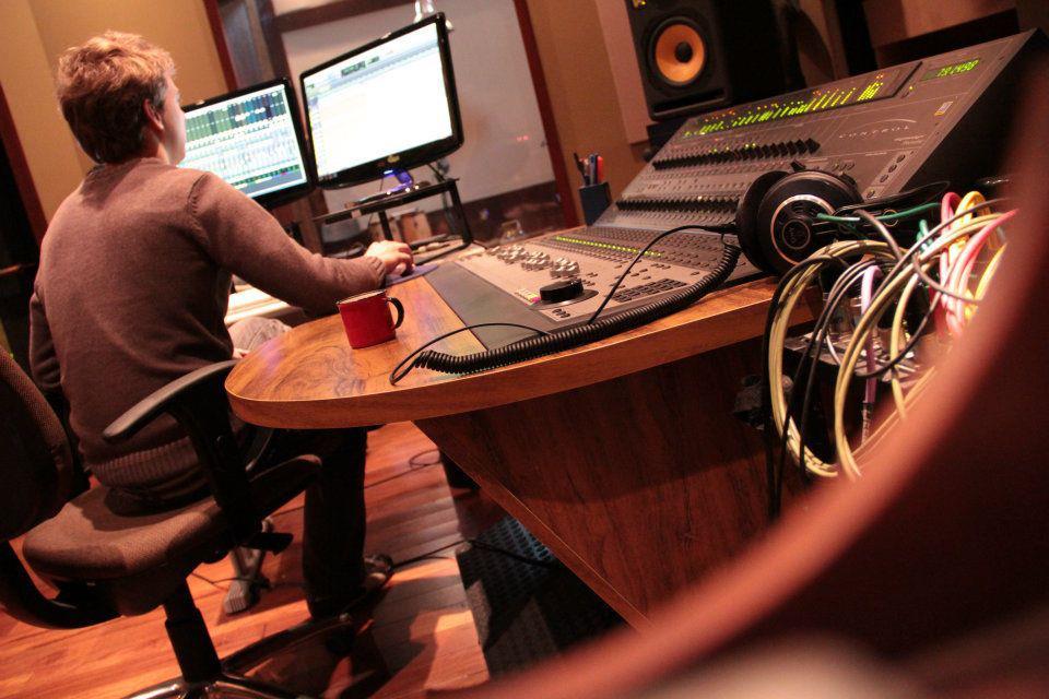 Cena no estúdio Gramofone